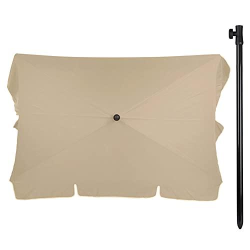 Aktive - Sombrilla para balcón, rectangular, 200 x 120 cm, color beige (85090)