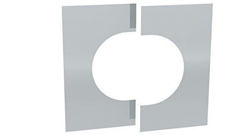 Wandblende / Deckenblende zweiteilig 0°- 30° für doppelwandige Schornsteine DW; Ø 130mm Innendurchmesser, Edelstahl