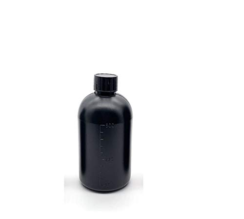 XBaofu Impresora 3D 1pc Especial Botella vacía DLP/Partes de la Impresora 3D SLA 250 ml / 500 ml / 1000 ml/Botella vacía Piezas 3D de la Impresora (Color : Negro, tamaño : 500ml)