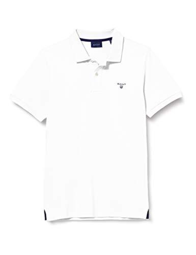 GANT Herren MD. The Summer Pique SS Rugger Poloshirt, Weiß (White 110), X-Large
