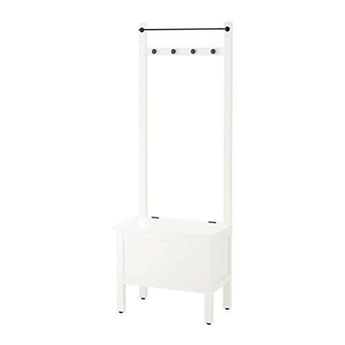 IKEA Hemnes 303.966.55 - Cómoda de almacenamiento con toallero y 4 ganchos, color blanco