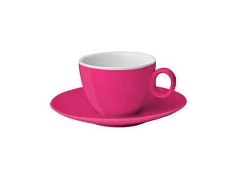 BRUNNER Espressotasse mit Untertasse aus Melamin Hohe Qualität, Rosa