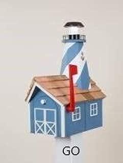 lighthouse mailbox post