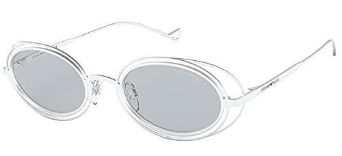 Emporio Armani Gafas de Sol EA 2118 Matte White/Light Grey 50/21/130 mujer