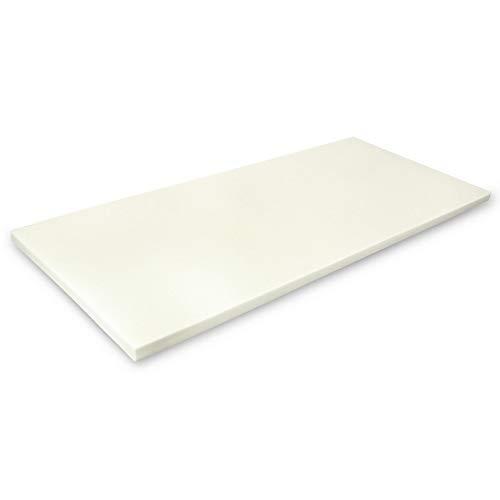 MSS Viscoelastische Matratzenauflage, ohne Bezug, 90 x 200 x 4 cm, Visco-Schaumstoff