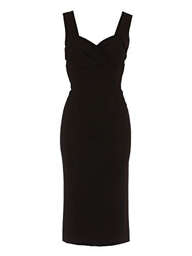DOLCE E GABBANA Luxury Fashion Damen F6J4QTFUGKFN0000 Schwarz Viskose Kleid   Herbst Winter 20