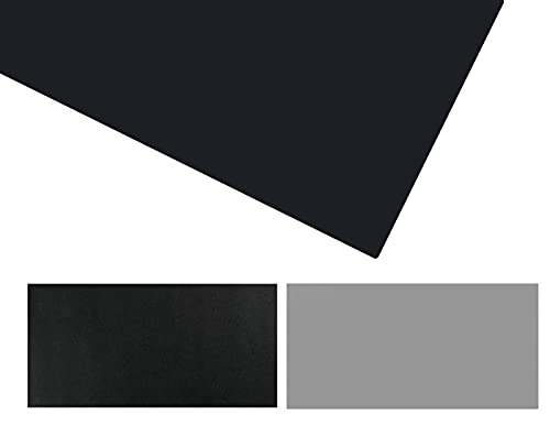 LYQCZ Ordenador Alfombrilla Escritorio, Almohadilla De Escritorio, Tapete De Escritura De Cuero De PU Doble Lado Extendido Impermeable Y Antideslizante - Negro+Gris(Size:70x70cm/27.56x27.56in)