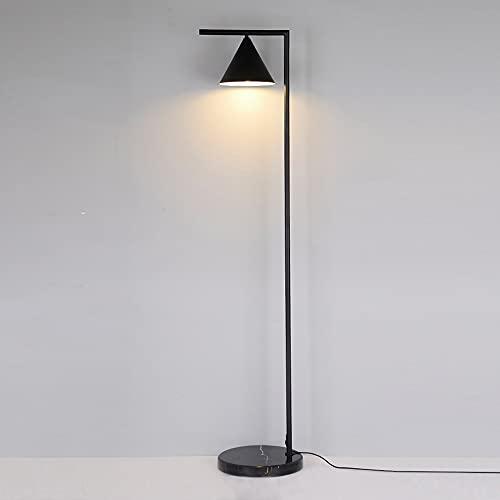 Lámparas De Pie LED,4 Temperaturas De Color Lámpara De Pie Regulable 12W Con Control Remoto, Para Sala De Estar, Dormitorio, Oficina, Estudio,Black-Tricolor-12W