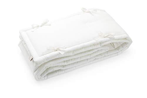 STOKKE® Sleepi™ Nestchen – Ovales Babynest aus Baumwolle & Leinen – Zubehör für das STOKKE® Sleepi™ Kinderbett bzw. für Betten der Größe 120 x 60cm – Farbe: Weiß