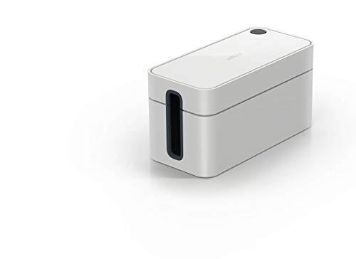 Durable 503510 Kabelbox Cavoline Box S (für 3-fach Steckdosenleiste, mit Gummifüßen, 246 x 116 x 128 mm (B x H x T)) hellgrau