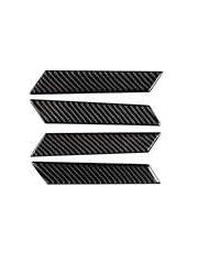 カーボンファイバーアームレストドアハンドルウィンドウリフトスイッチボタンパネルフレームデカールカバートリム VW フォルクスワーゲン ゴルフ VII GTI 2017-現在用