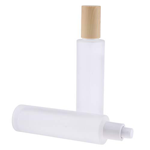 perfeclan 2pcs Flacon Pompe Bouteille De Vaporisateur De Parfum de Poch Contenant de Lotion Vide - 120 ml