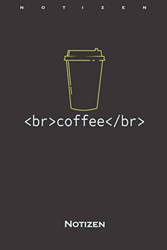 Programmiersprache großer Kaffee Notizbuch: Liniertes Notizbuch für Computerfans und Internet Nerds