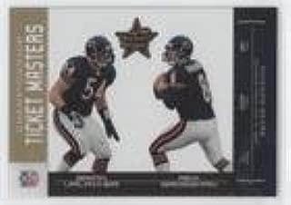 Brian Urlacher; Rex Grossman #95/250 (Football Card) 2004 Leaf Rookies & Stars - Ticket Masters - Gold Championship #TM-6
