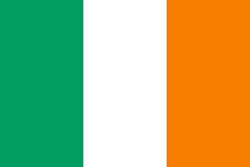 Etaia 5,4x8,4 cm - Auto Aufkleber Fahne/Flagge von Irland Ireland Sticker Motorrad Bike Europa Länder