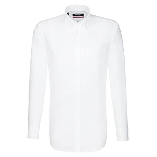 Seidensticker Herren Business Hemd Regular Fit , Weiß (White 0001) , 41