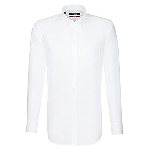Seidensticker Herren Business Hemd Regular Fit , Weiß (White 0001) , 41