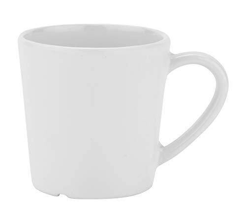 GET C-107-W-EC Melamine Coffe Mug/Cup, 8 Ounce, White (Set of 4)
