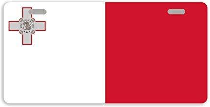 Dant454ty Bandera de Malta Decorativa Placa de Licencia Frontal Placa de Metal Marco Cubierta Funny Vanity Tag para Mujeres, para Hombres