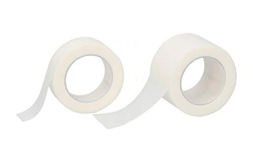 2x Chirurgisches Klebeband 2,5-1,25cm x 5m hyperallergen Leukoplast Fixierpflaster Pflaster Verband 18