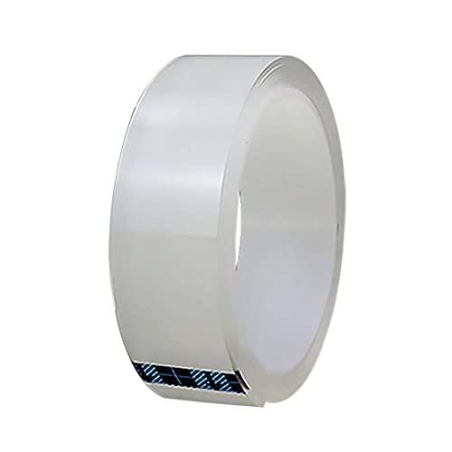 WSWJDW Cinta a prueba de moho, impermeable, acrílico, transparente, lavable, transparente, nano cinta, sin rastro, transparente, tira adhesiva de doble cara, 1 mm x 3 m