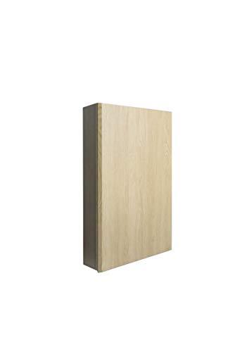MUEBLECASA - Mueble de baño montado con 2 baldas regulables para colgar, madera, Alto 83 cm x Ancho 30cm x Fondo 17 cm, Roble