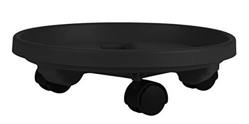 Bloem CAD1200 - Soporte Redondo para Plantas con Ruedas, Bandeja para platillo de 30,5 cm, Color Negro