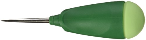 Dritz 5112 Tapered Awl with Ergonomic Design and Safety Cap, Green