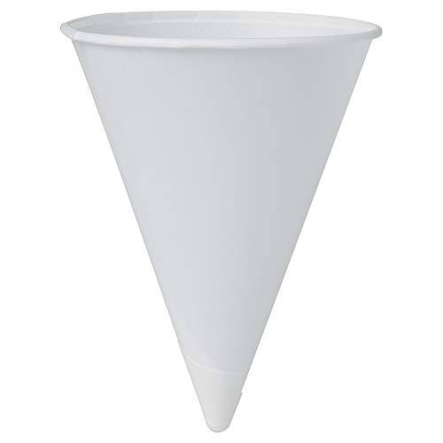 Solo 42BR-2050 4.25 oz White Paper Cone Cups (Case of 5000)