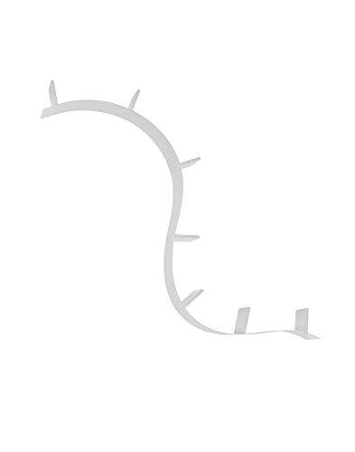 Kartell Bookworm Mensola da Parete, 7 Reggilibri, PVC, Alluminio, 320 x 19 x 20 cm