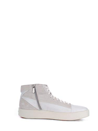 Luxury Fashion | Santoni Heren MBWI20921BIAGLYUI20 Grijs Suôde Hi Top Sneakers | Seizoen Outlet