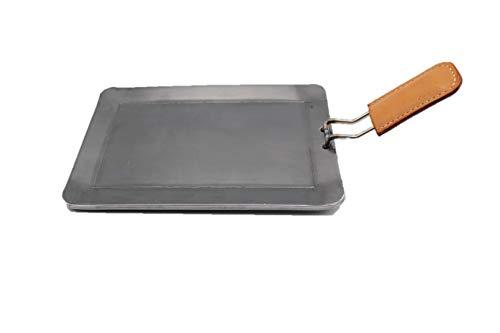 oka-d-art 黒皮鉄板 ミドルタイプ 【 4点セット 穴有り 】 250×165用 (黄茶, 6.0)