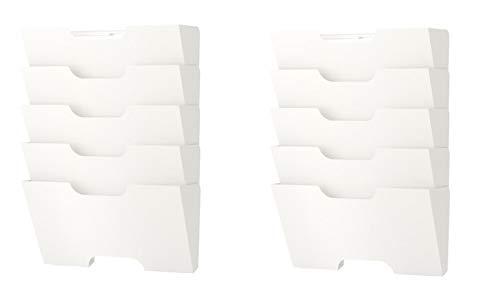 Ikea Kvissle Wall Magazine File Rack White Metal (2 Pack)