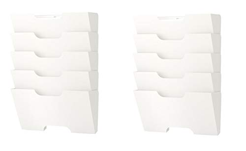 Ikea Kvissle Wall Magazine File Rack White Metal (2 Pack)