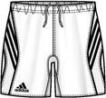 Adidas pantaloncini Ger Fed Mp Bianco - XXL...