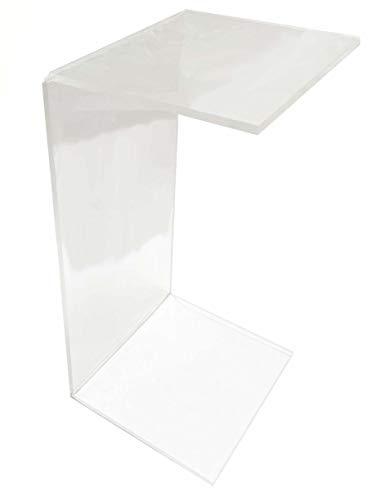 LAC Couchtisch Nachttisch Konsole Wohnzimmer aus Plexiglas Transparent Accessoire Design Fußstütze - Dicke 10 mm - 60 x 30 x 30 cm