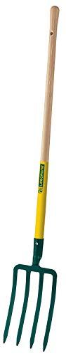 Fiskars 432291 Horca para cavar casquillo 4 dientes 30 mango largo
