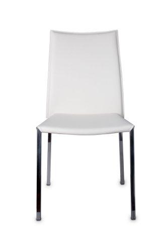 EUROSILLA Sidney – Chaise pour Salle à Manger, 89 x 47 x 57 cm, Couleur Blanc