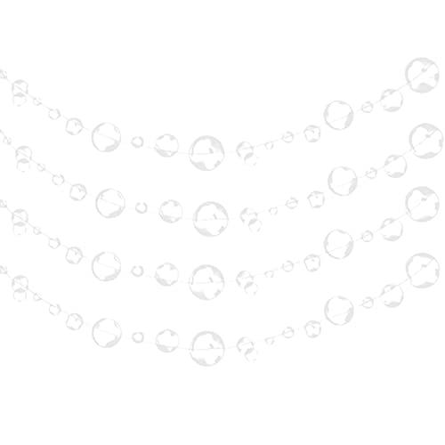 Hieefi 4 Pezzi Piatto Trasparente Bolla Ghirlande Galleggianti Appeso Bolle Streamer Sfondo Baby Shower Bunting Ocean Festa Decor