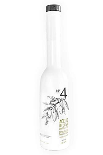 Oli 4 Aceite de Oliva Virgen Extra - Ecológico - Prensado en Frío, Cosecha Temprana, Salceña - Ganador Premio Gran Oro Mezquita 2020 - 250 ml