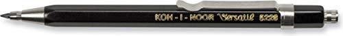 KOH-I-NOOR 2mm Diameter Short Mechanical Clutch Lead Holder Pencil - Black
