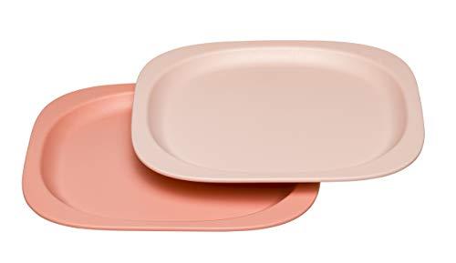 nip Eat Green öko bio Kinder-Teller: Ohne Melamin und BPA, geeignet für Spülmaschine und Mikrowelle, 2 Stück, orange