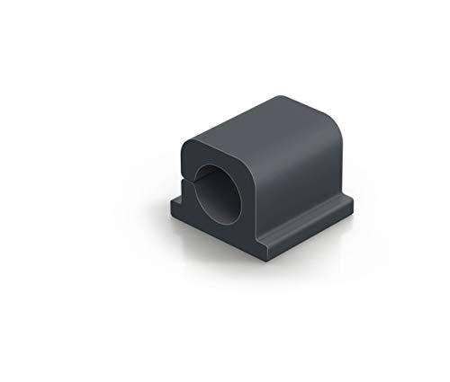 Durable 504237 Kabel Klemmen Cavoline Clip Pro 1 (selbstklebend für 1 Netzkabel, Ø 10 mm) 6 Stück, graphit