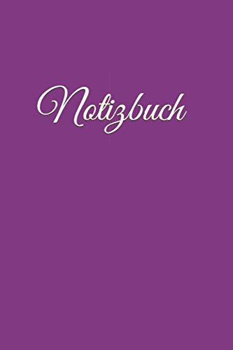 Notizbuch: violettes Notizbuch violett liniertes Buch zum reinschreiben,120 Seiten, 6x9 Zoll (ca A5), Softcover, verwendbar z.B. als Notizbuch ... Schulheft Tagebuch Gästebuch Geschenk