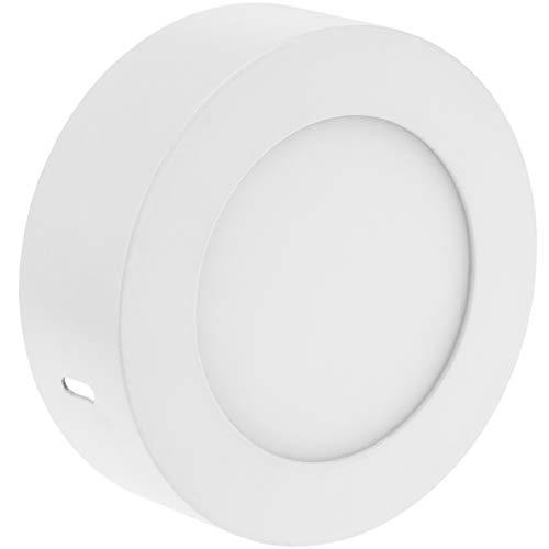 BeMatik - Circulaire Spot de surface Panneau de LED 6W 120mm Blanc chaud