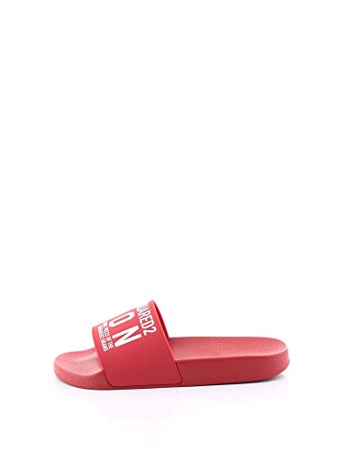 DSQUARED2 Rot Icon Gummi-Slipper SS 2020 43