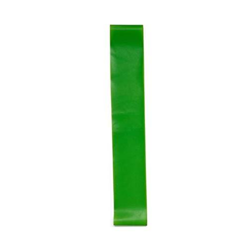 Kurphy - Bandas elásticas de goma de resistencia para yoga, para interiores y exteriores, 0,35 mm - 1,1 mm, color verde