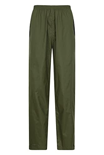 Mountain Warehouse Pakka Mens Waterproof Rain Pants - Khaki Medium