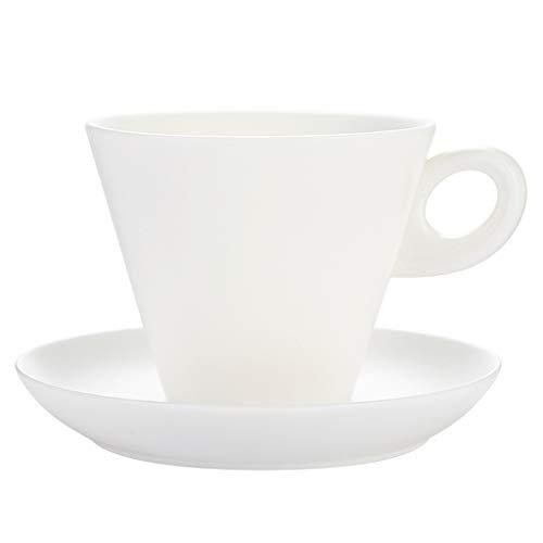 Tazas de Cafe Blanco Taza y platillo de la Personalidad Creativa de cerámica Simple Copa de Jade Taza de Porcelana de café Muy Adecuado for Bebidas Especiales de café y té Tazas Personalizadas
