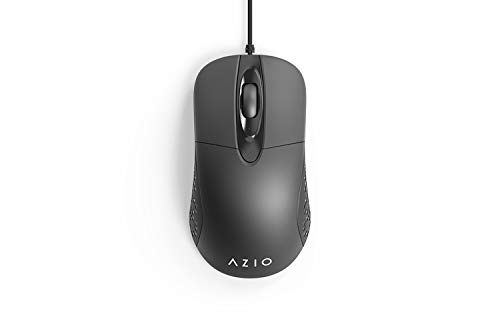 Azio MS530 - Computer Mouse for Laptop or Desktop PC/Mac with Antimicrobial Antibacterial Protection and IP66 Waterproof Rating, Black